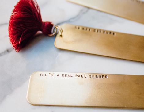 Oceanne Jewelry's Custom Brass Bookmark