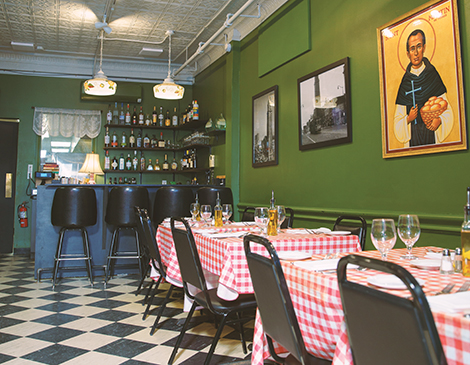 Ohio City Pizzeria is a quaint eatery that serves up massive pizzas such as the Wildcat.
