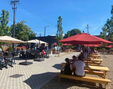 Outdoor Patio at Lakewood Truck Park