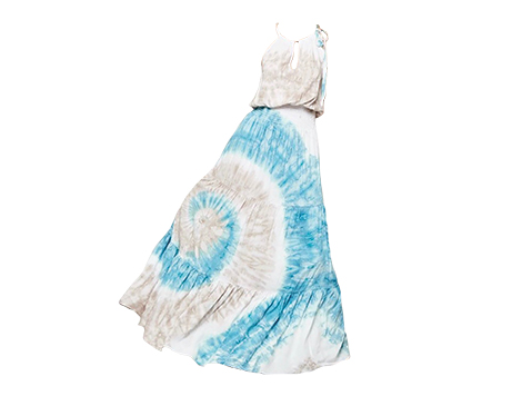Promesa Tie-Dye Patterned Maxi Dress