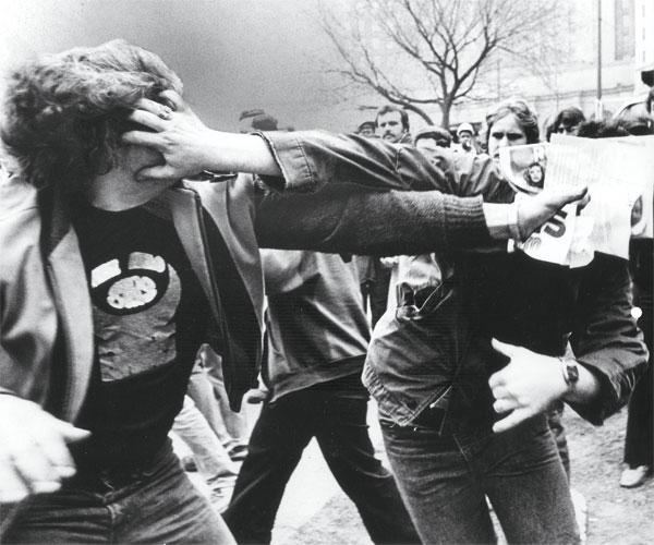 Protestors March Down Euclid Avenue in 1980