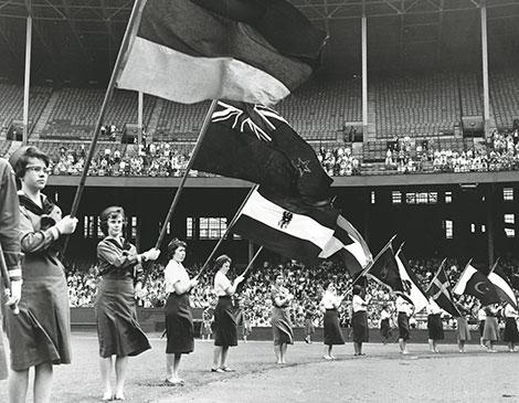 1960: Girl Scouts Celebrate at Muni Stadium