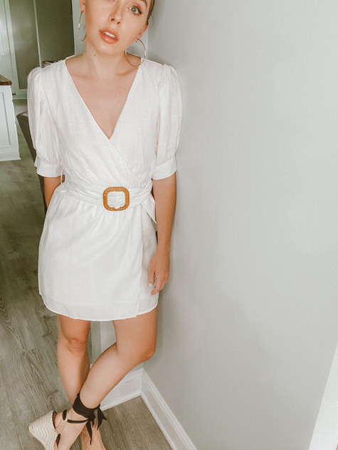 The Only Daughter Society's Belted Wrap Dress