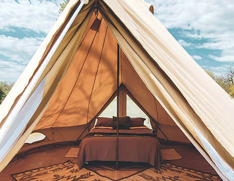 The Pop-Up BNB sets up luxury tents for special events, parties campsites and even a stay in your own backyard