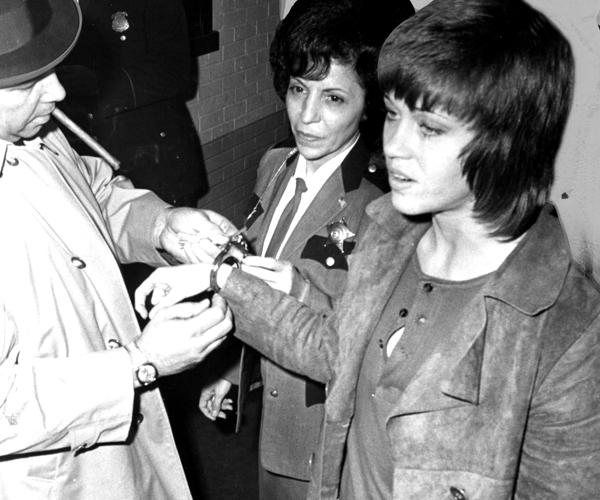 1970: Jane Fonda Arrives In Handcuffs