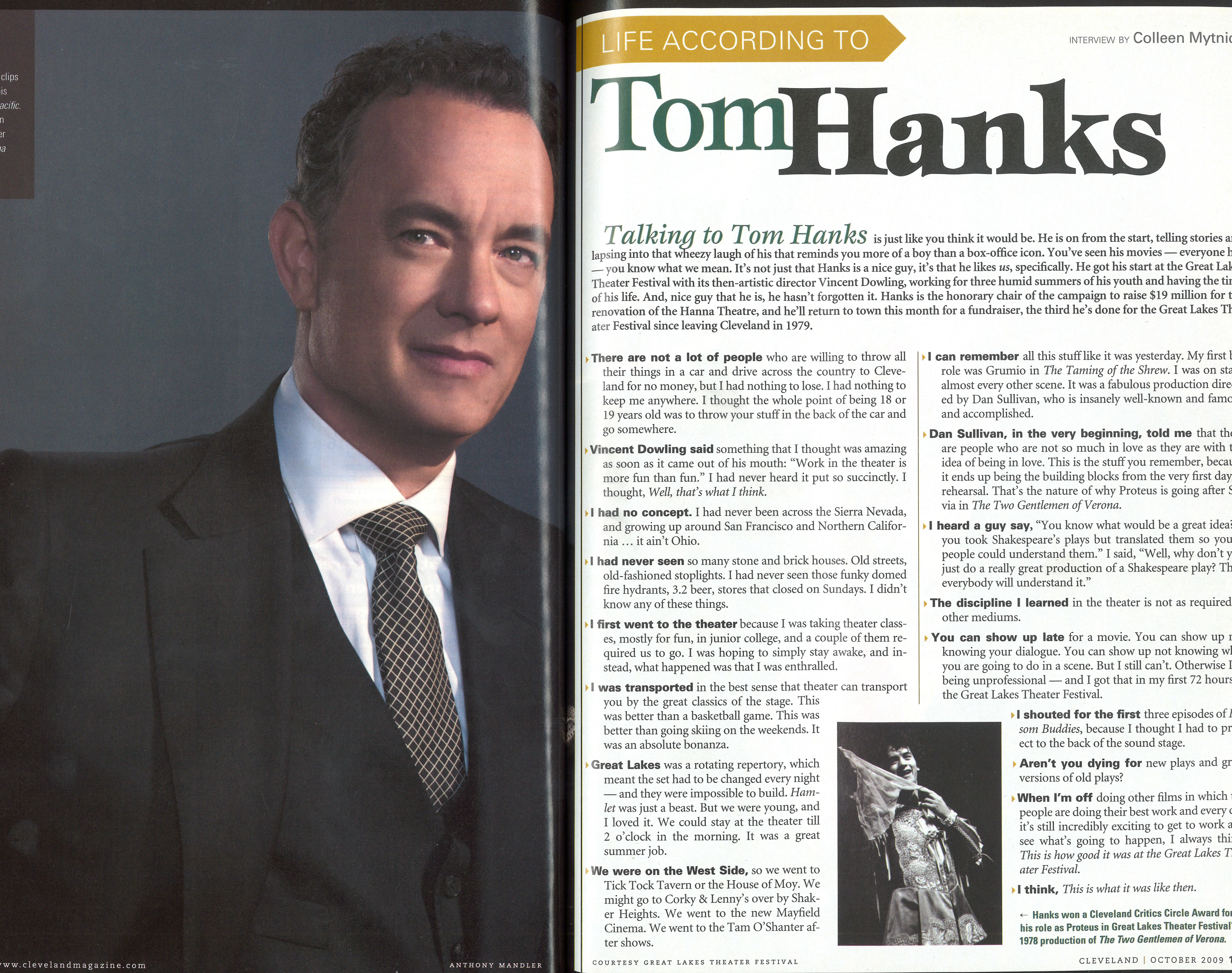Tom Hanks, Full Page Scan 2009