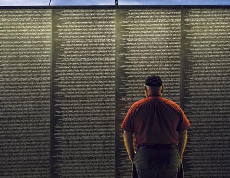 Veteran At Wall That Heals